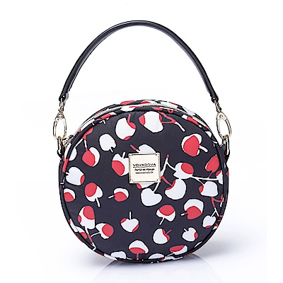 VOVAROVA空氣包-甜甜圈側背包-Cherrypicks(Black&Red)