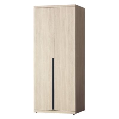 Boden-維森2.7尺二門衣櫃(單吊桿)-80x57x202