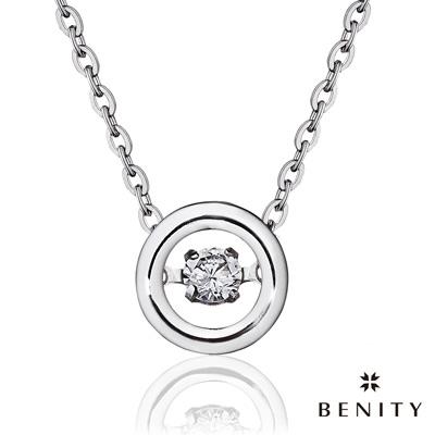BENITY 鏗鏘玫瑰 八心八箭cz美鑽 925銀 鍍白金 女項鍊