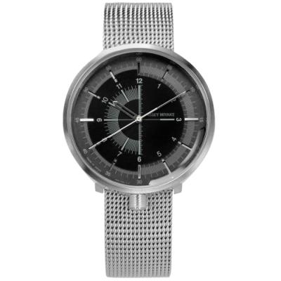 ISSEY MIYAKE 三宅一生 One-Sixth米蘭編織不鏽鋼機械錶-黑灰/43mm