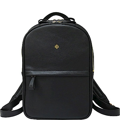 OBBI LAI 黑色荔枝紋牛皮後背包-M