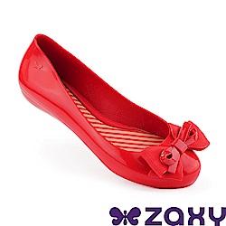 Zaxy 巴西 女 蝴蝶飛舞 平底鞋 紅