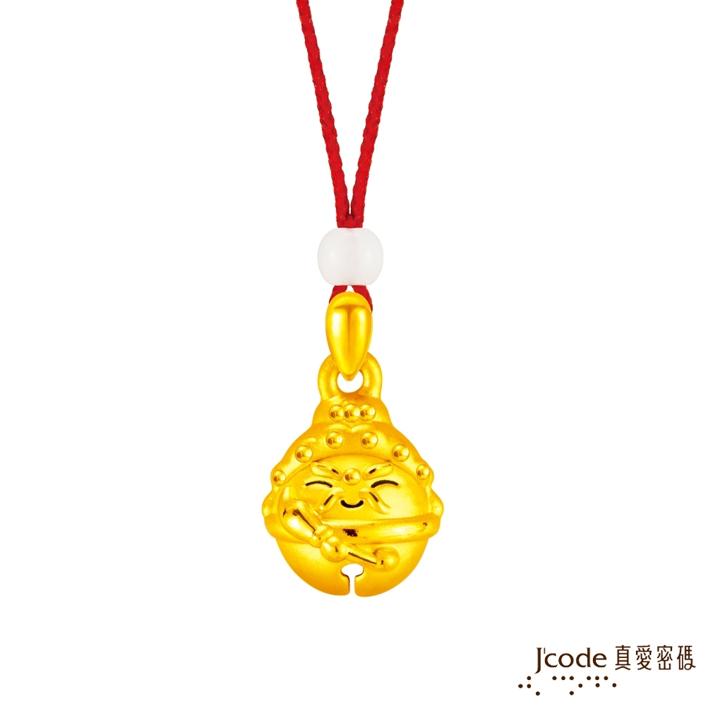 J'code真愛密碼金飾 大甲媽好鈴驗關公黃金墜子-立體硬金款 送項鍊