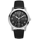 GUESS 獨特格紋潮流時尚腕錶-銀-W75042G1-44mm