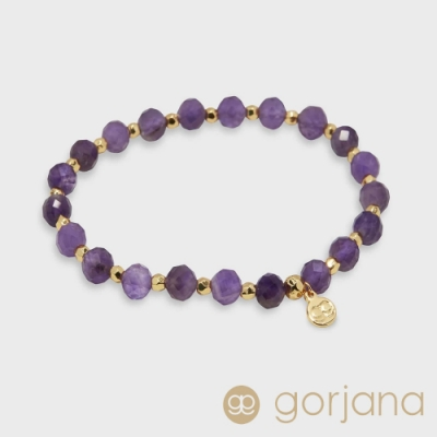 GORJANA Power Gem 療癒紫水晶串珠手鍊 平靜能量啟發