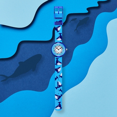 FLIKFLAK 兒童錶WHALE DONE(31.85mm)