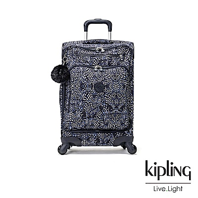 Kipling 奇幻藍羽斑紋21吋登機箱-YOURI SPIN 55