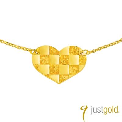 鎮金店Just Gold 黃金項鍊 馬賽克戀曲