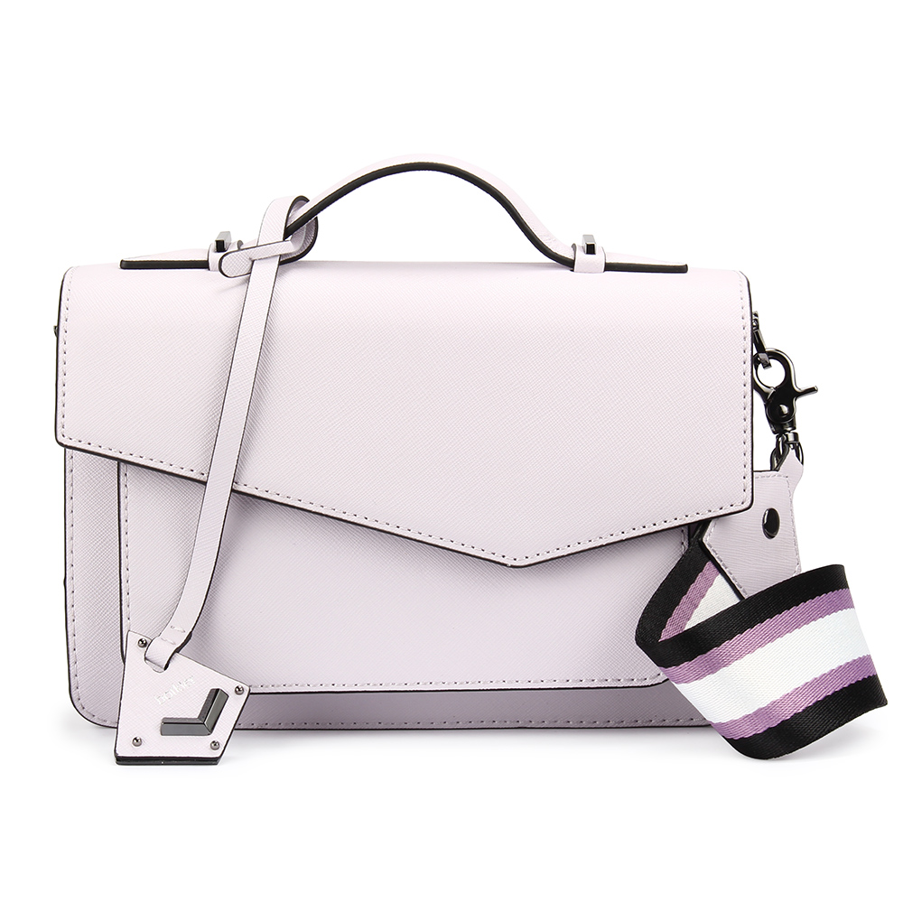 botkier Cobble Hill 拼接防刮皮革手提/斜背兩用風琴包-薰衣紫色