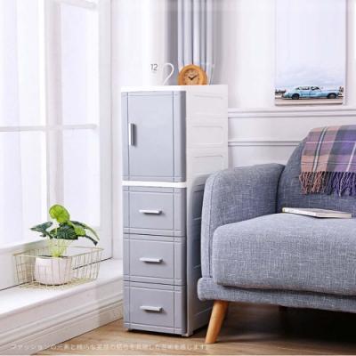 [限時下殺]【AOTTO】25面寬簡約開門夾縫收納櫃 大容量升級(夾縫收納 儲物櫃)