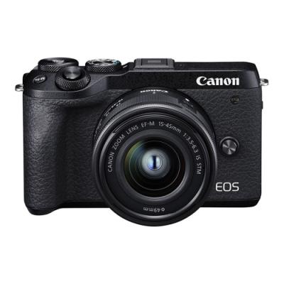 Canon EOS M6 Mark II (M2) 15-45mm KIT-黑色 (中文平輸)