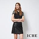 ICHE 衣哲 設計感洞洞簍空拼接簡約造型襯衫上衣