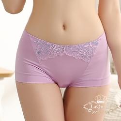 內褲  蕾絲透氣蠶絲小褲-紫 La Queen