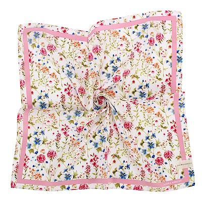 LAURA ASHLEY 繽紛滿版花卉純棉帕領巾-粉紅色