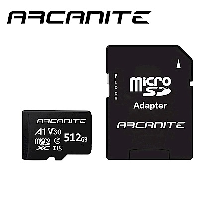 ARCANITE Micro SDXC U3 V30 A1 512GB 記憶卡