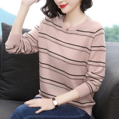 [時時樂限定] 初色 立體條紋針織衫-共4色-(F可選)