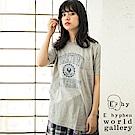 E hyphen 定番圓領短袖T恤/上衣