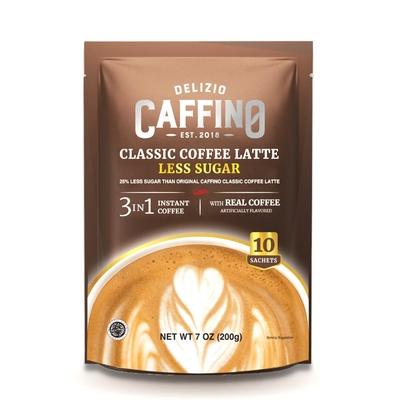 【CAFFINO】經典拿鐵咖啡-減糖風味(20公克x10入/袋)