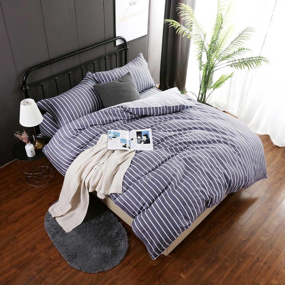 夢工場 心動倩影60支紗長絨棉床包兩用被組-加大