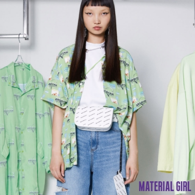 MATERIAL GIRL 貓咪復古滿印襯衫 -street系列 【14174】