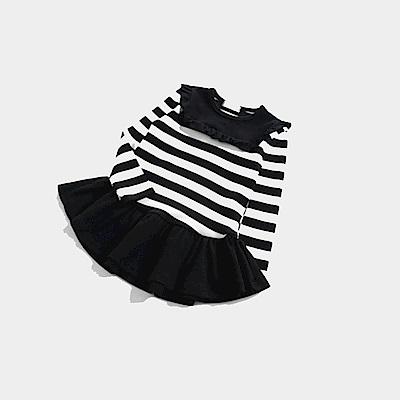 【韓品童裝】女童 中小童長袖條紋連身洋裝