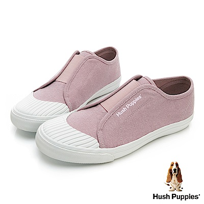 Hush Puppies 簡約貝殼頭懶人便鞋-粉紅