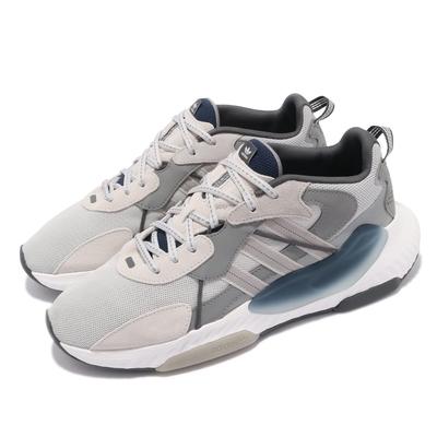 adidas 休閒鞋 Hi-Tail 運動 男鞋 愛迪達 舒適 避震 反光 球鞋 穿搭 灰 白 H05766