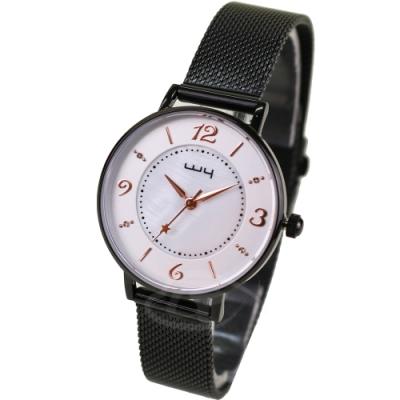 WY威亞 探索視界米蘭黑帶錶-白盤金針