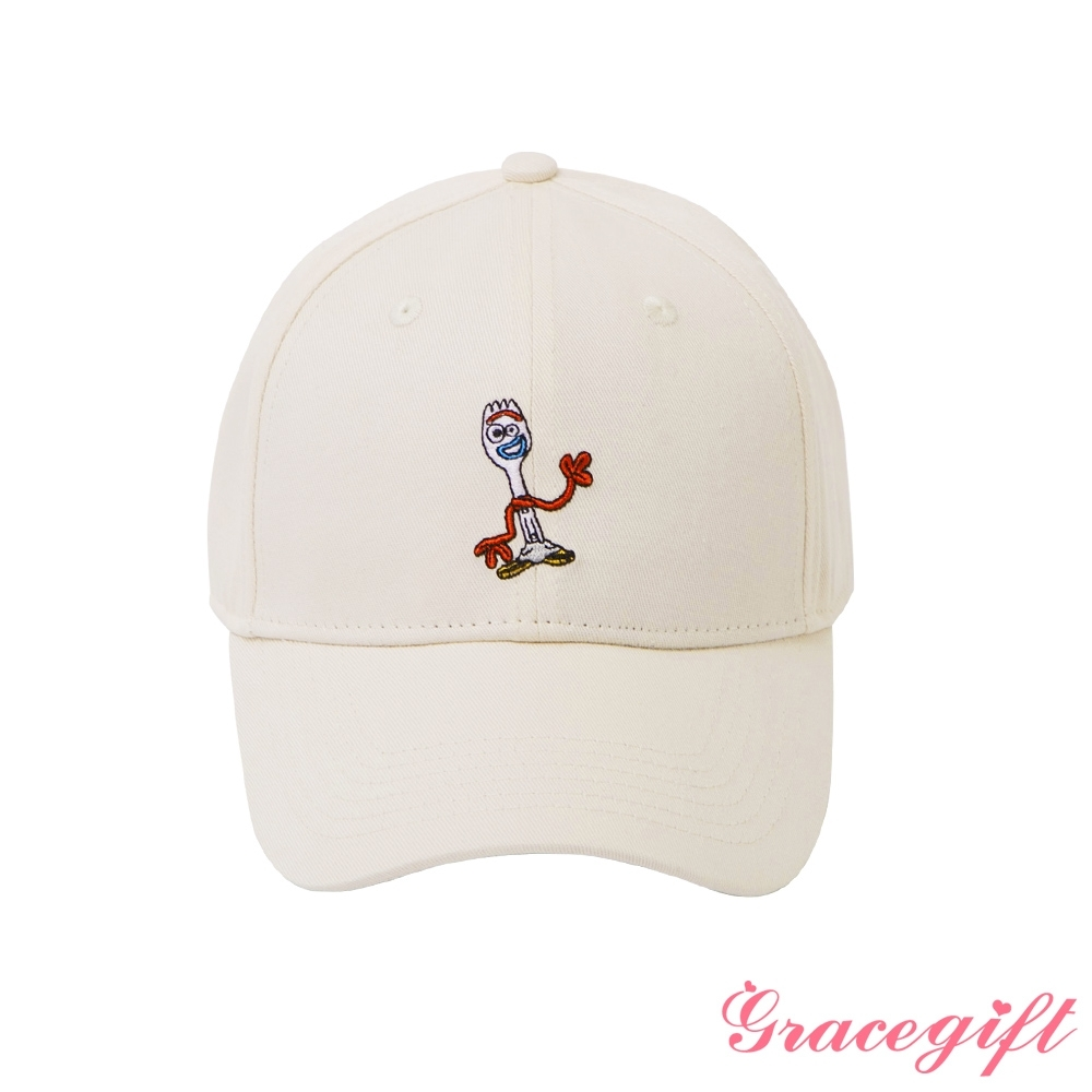 Disney collection by gracegift-迪士尼叉奇電繡棒球帽 米白