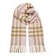BURBERRY 經典格紋喀什米爾羊毛流蘇圍巾 淡粉色 product thumbnail 1