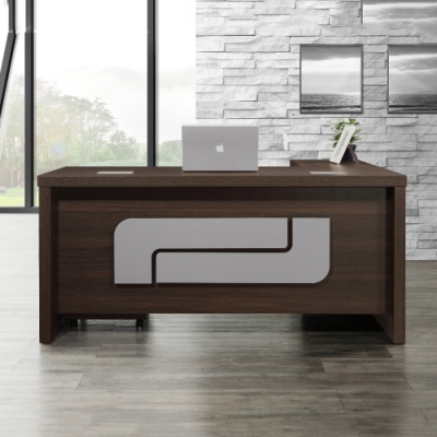 MUNA 多明尼卡6尺辦公桌組(含側櫃,活動櫃) 180X165X77cm