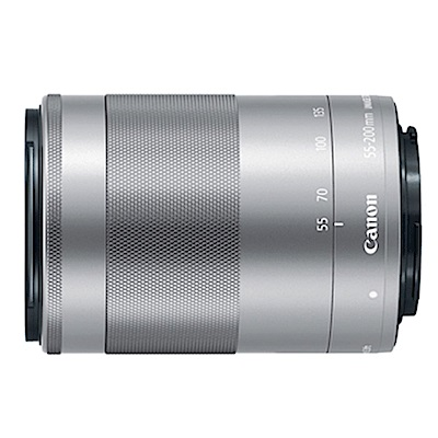 CANON EF-M 55-200mm F4.5-6.3 IS STM (平輸白盒) 銀色