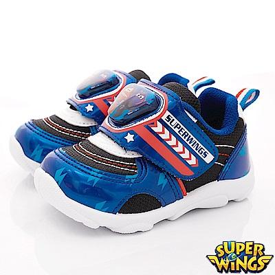 SUPER WINGS 炫亮電燈運動鞋款 EI3045藍(中小童段)