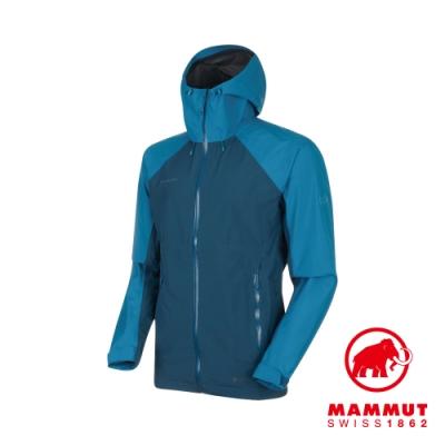 【Mammut 長毛象】Convey GTX 連帽外套 藍/藍 男款#1010-26032
