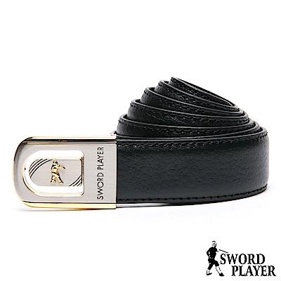 SWORD PLAYER - 莎普爾簍空金邊款皮革珠扣式皮帶