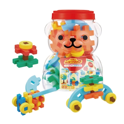 Gakken-日本學研益智積木-快樂小熊組合(STEAM教育玩具)(2Y+)