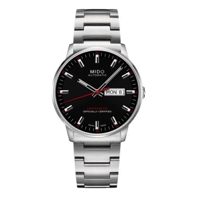 MIDO 美度 Commander II香榭系列天文台機械腕錶-黑/40mm M0214311105100