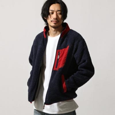立領布勞森外套仿羊絨(7色) -ZIP日本男裝