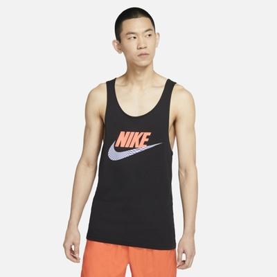 Nike NSW TANK FESTIVAL 印花 男背心-黑-DD1345010