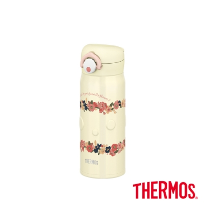 THERMOS膳魔師 輕巧變不鏽鋼真空保溫瓶0.4L(JNR-400-BE)
