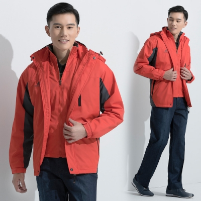 JOHN DUKE時尚休閒保暖防風外套橘色(22-5K1250)