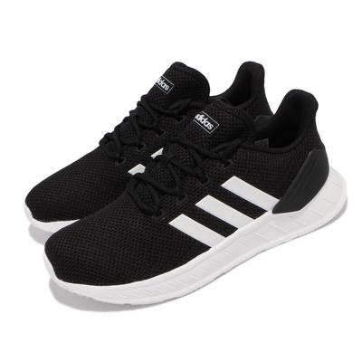 adidas 慢跑鞋 Questar Flow NXT 運動 男鞋 愛迪達 輕量透氣 舒適 避震 路跑 健身 黑 白 FY5951