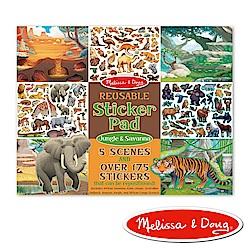 貼紙簿 - 可重複貼紙 - 熱帶叢林動物