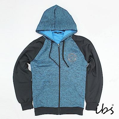 ibs美休連帽針織外套(藍-男)
