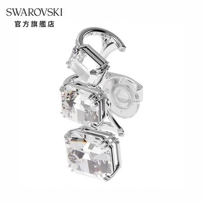 SWAROVSKI 施華洛世奇 Millenia 耳骨夾單個, 漸變仿水晶, 白色, 鍍白金色