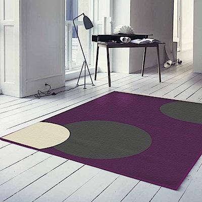 范登伯格 - 幾何 進口地毯 - 紫金 (140 x 200cm)