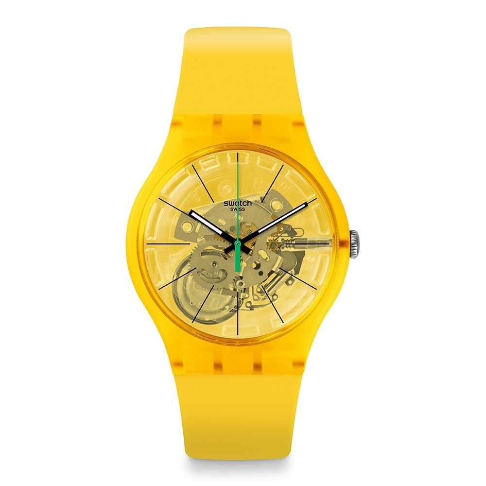 Swatch 原創系列手錶 BIO LEMON有機黃-41mm