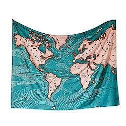 北歐風裝飾掛布世界地圖