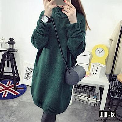 JILLI-KO 韓版高領加厚打底針織衫- 深綠/深灰/卡其