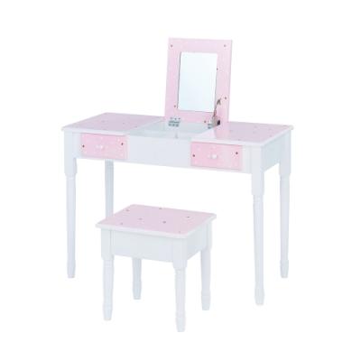 Teamson時尚閃亮星凱特梳妝桌椅組(掀蓋式)